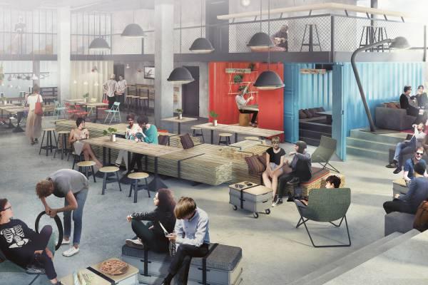 dock inn hostel warnem nde fietschers. Black Bedroom Furniture Sets. Home Design Ideas